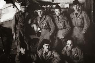 Photo: P2 ALAT classe 57A1 - Fes 1957 - En haut : Jarfe; Diguet, Marchand, Grabonet, en bas : Gilles Mengual, Souchet, Le Marec