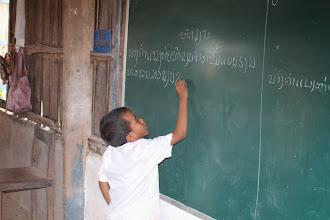 Photo: Laos Reisen, Dorfschule Don Det
