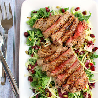 Sweet Kale and Grilled Sirloin Salad