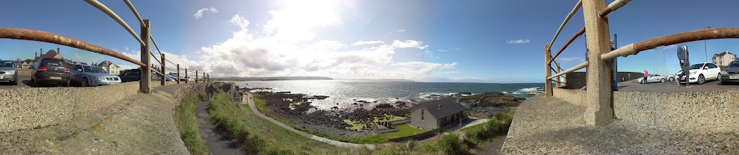 Photo: Portstewart looking out towards bar mouth. Taken at 11am with the Raspberry Pi camera board (30 separate photographs). Stitched with Hugin #RPPA