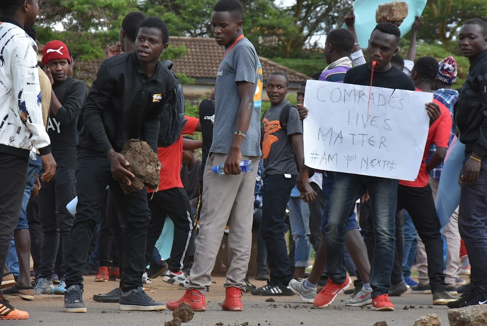JKUAT closed after students block Thika road in protest against insecurity