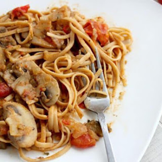 Pasta With Mushrooms In Soy Sauce