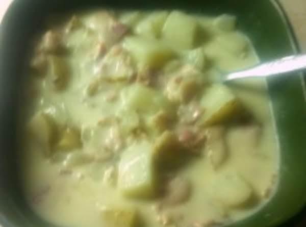 Potato Soup With Swiss Cheese Recipe