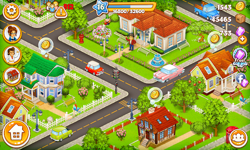 Cartoon City: farm to village. Build your home 6