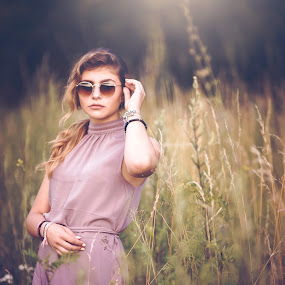Never underestimate the power of women   by Hurghis Vasile - People Portraits of Women ( lighting, nature, still life, green, colors, woman, light, natural, bokeh )