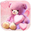 Pink cute bear wallpaper icon