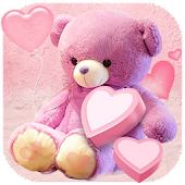 Pink cute bear wallpaper