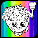 Kid Coloring Game for Shopkin icon
