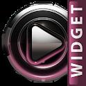 Poweramp skin widget Rose Glow icon