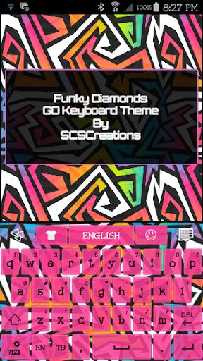 GO KB SKIN - FunkyDiamonds