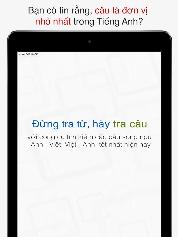 Tra câu- screenshot