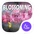 Pink Spring Flowers theme & HD wallpapers APK