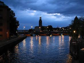Photo: city hall twilight
