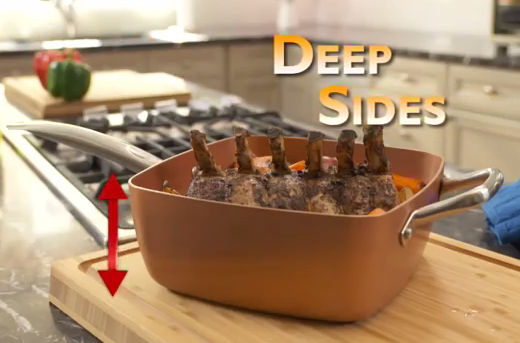 Copper Chef deep sides