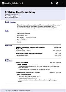 cv builder for smart resumes screenshot thumbnail