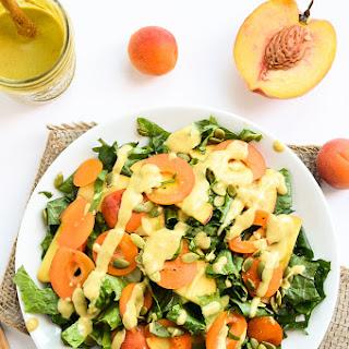 Kale & Stone Fruit Salad with Balsamic-Peach Vinaigrette