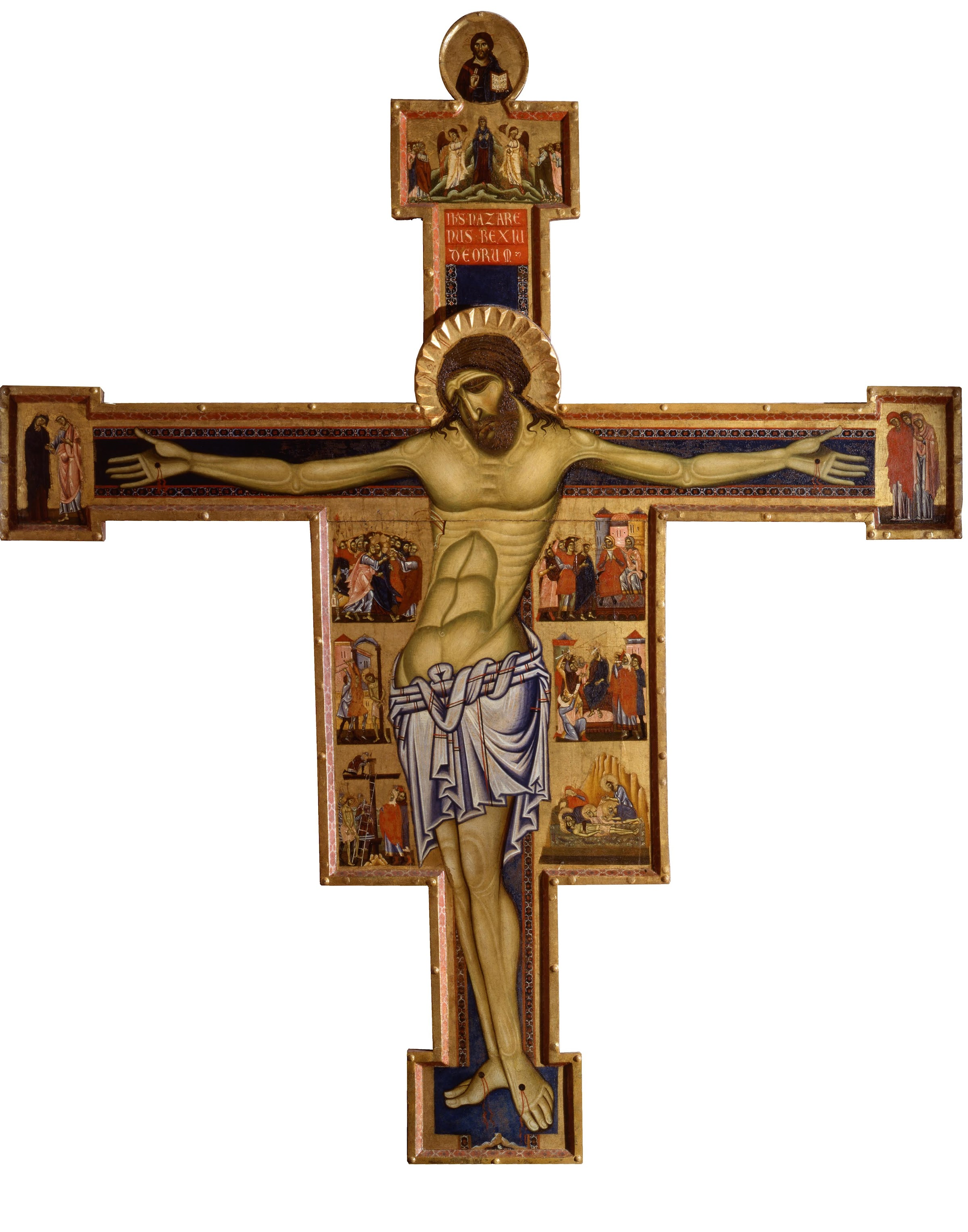 Coppo di Marcovaldo  (1225–1276), Crocifissione,1260 circa, tempera su pannello, Museo Civico di San Gimignano
