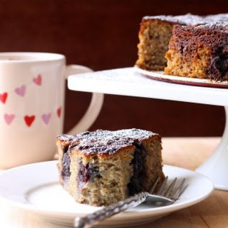 {Grain Free} Hazelnut Banana Cherry Cake