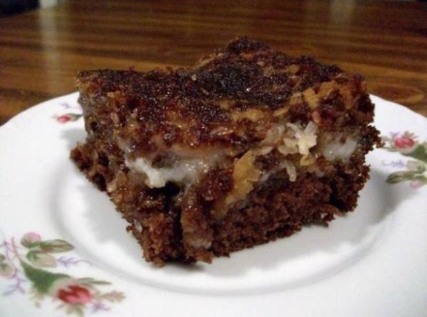 German Chocolate Upside-down Cake Recipe