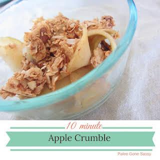 10 Minute Apple Crumble.