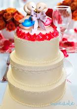 Photo: Love Swan  Custom edible cake topper