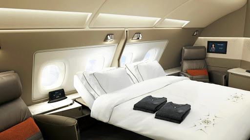 Singapore Airlines First Class. Picture: SUPPLIED