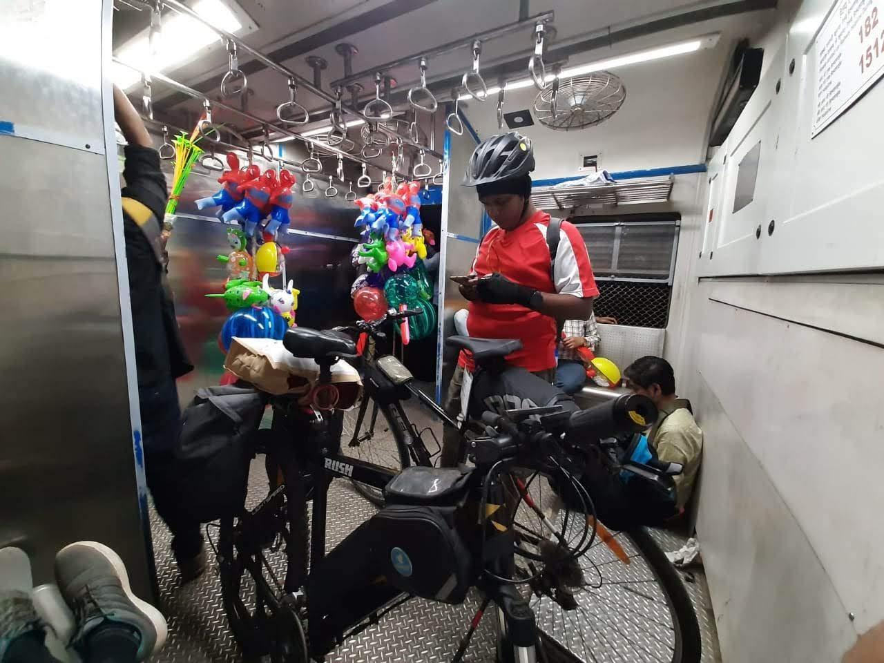 In Virar train