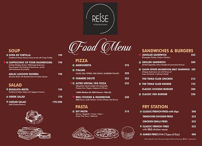 Reise All Day Bar & Kitchen menu 4
