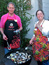 Photo: Lee and Louise grilling