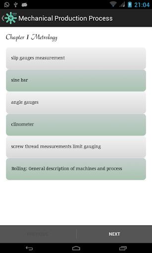 Mechanical Production Process
