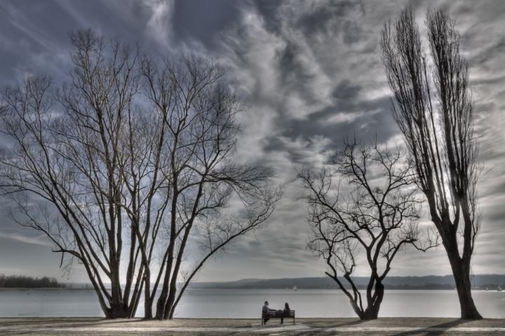 L'appuntamento romantico sotto alberi di Ticino-Joana