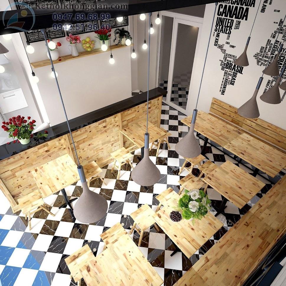 thiết kế cửa hàng cafe đẹp nhất văn quán