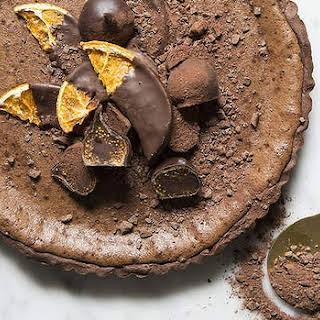 Dark Chocolate And Orange Tart.