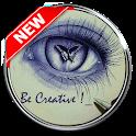 Creative drawing ideas icon