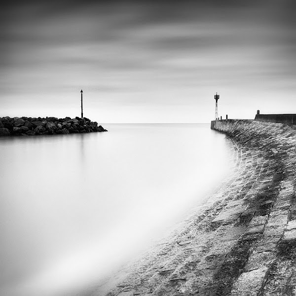 Photo: Hello G+ friends, a rather classical LE work here. I wanted to keep it simple, not very dramatic. By playing with the tones, a try to balance the composition between the two things at the harbor entrance..  Technical infos: *taken at L'Houmeau, next to La Rochelle (France) *F/13, 240 sec, iso 200 *Filters B+W 110 (+10 stops) and B+W 502 (nd grad +2 stops)