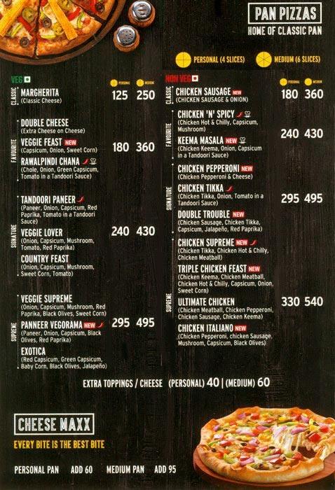 Pizza Hut menu 3