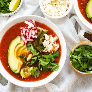 Best Ever Vegetarian Tortilla Soup