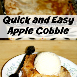 Quick and Easy Apple Cobbler