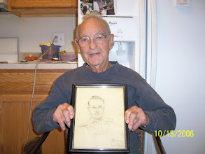 Photo: This is a sketch that one of dad's buddies did of him.  Pretty good likeness!