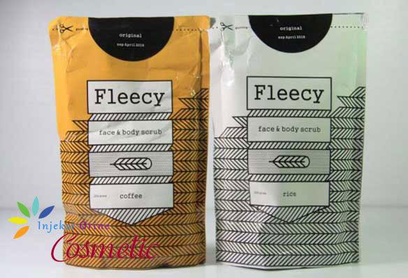 Lulur Pemutih Wajah dan Badan FLEECY Coffee Scrub