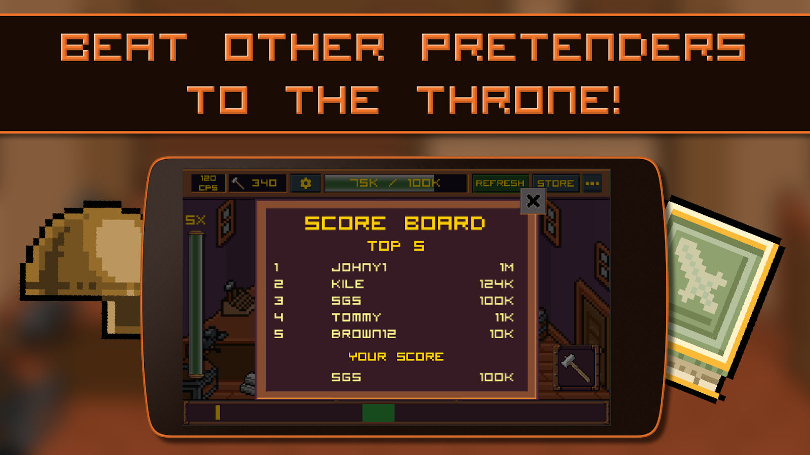 King of Smiths: Clicker game- screenshot