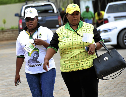 ANC members during the provincial general council meeting in Free State yesterday. /Veli Nhlapo