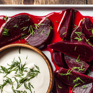Pickled Beets with Dill and Crème Fraîche