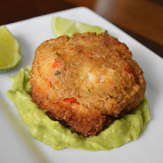 Tequila Lime Shrimp Cakes with Avocado Sauce