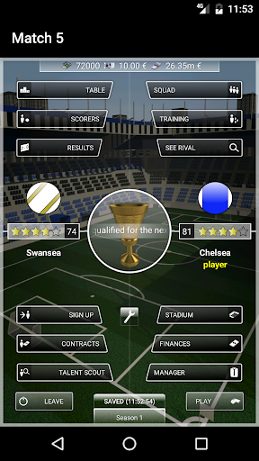 iClub Manager 2: football manager android-1mod screenshots 1
