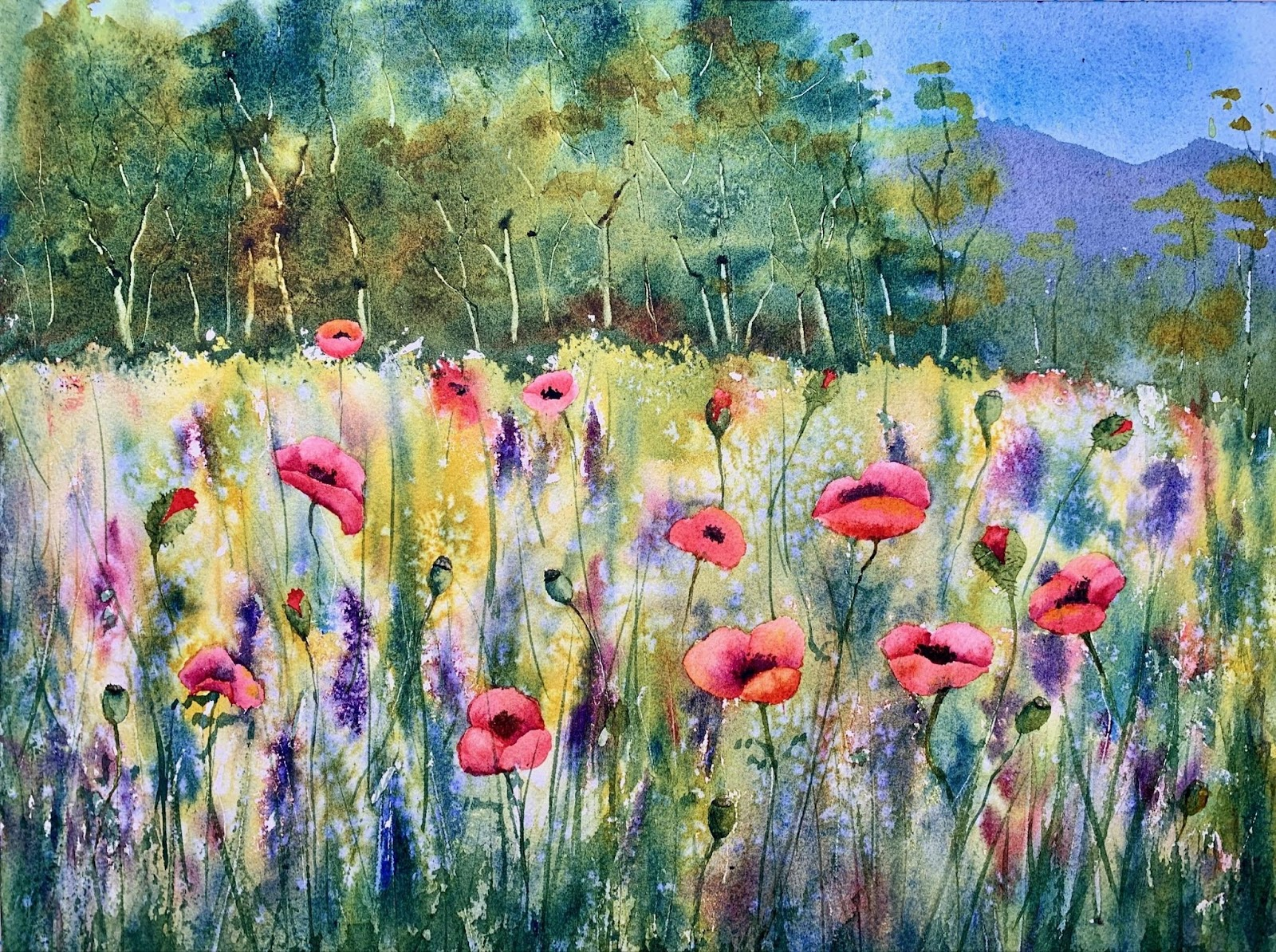 Paint wildflowers in a class by Eva Nichols.