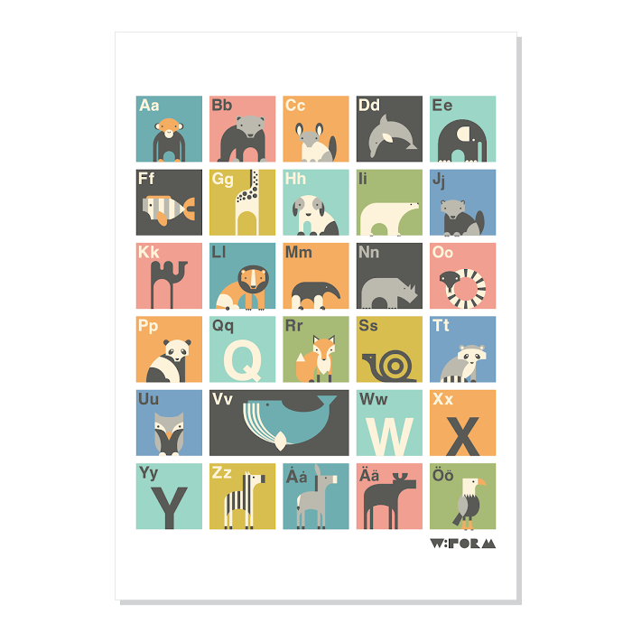 W:FORM Poster Multicolor ABC