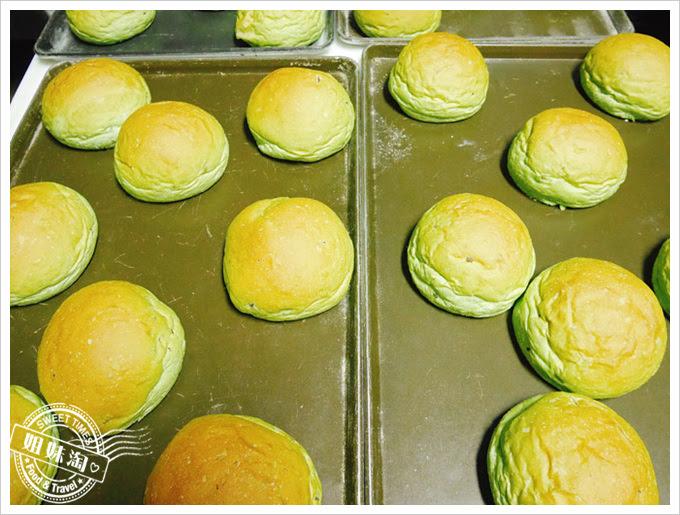 布雷克漢堡-抹茶紅豆麵包