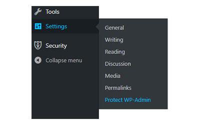 Truy cập vào plugin Protect Your Admin