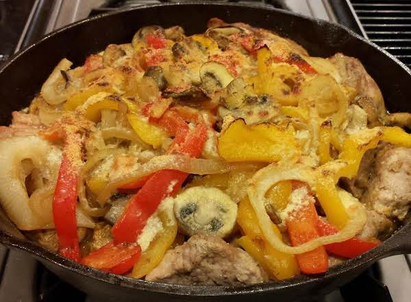 Skillet Pork And Peppers Recipe